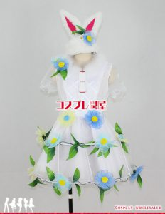 東京ディズニーランド(TDL) ディズニー・イースター2014 うさぎダンサー 青 修正版 コスプレ衣装 フルオーダー