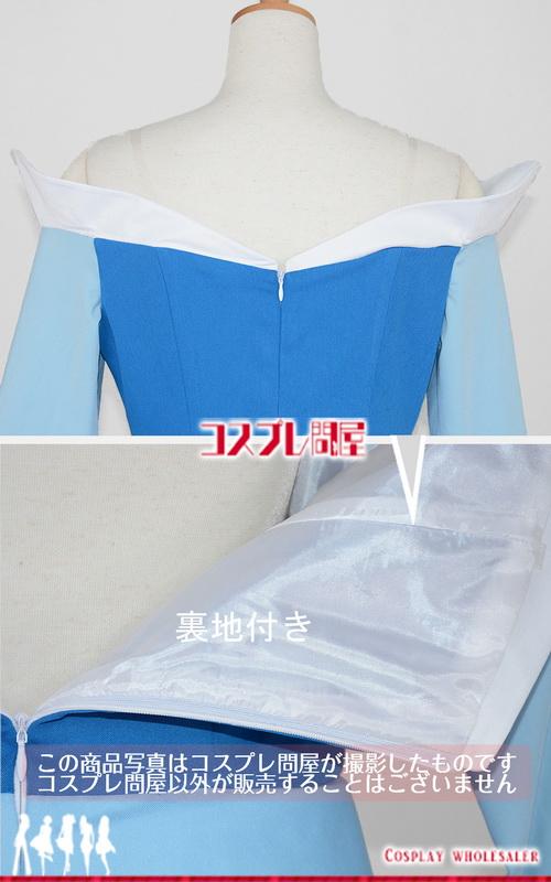 ディズニー映画 眠れる森の美女 オーロラ姫 青 ドレス 髪飾り付き コスプレ衣装 フルオーダー
