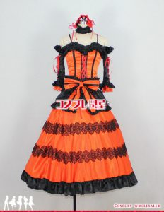 デート・ア・ライブ(DATE A LIVE) 時崎狂三(ときさきくるみ) パニエ付 コスプレ衣装 フルオーダー