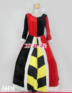 東京ディズニーランド(TDL) 不思議の国のアリス ハートの女王様 コスプレ衣装 フルオーダー