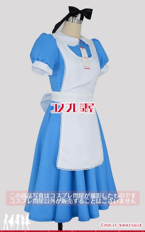 ディズニー映画 ふしぎの国のアリス アリス 青 コスプレ衣装 フルオーダー