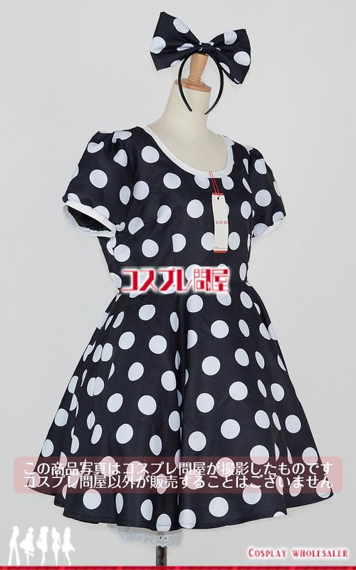 東京ディズニーランド(TDL) ミニーマウス 黒 パニエ付き レプリカ衣装 フルオーダー [0263]